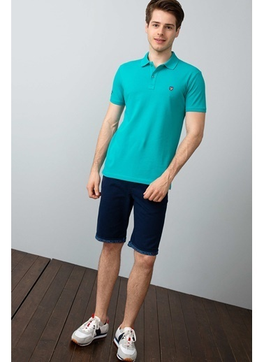 U.S.Polo Assn. Slim Fit Polo Yaka Tişört Mavi